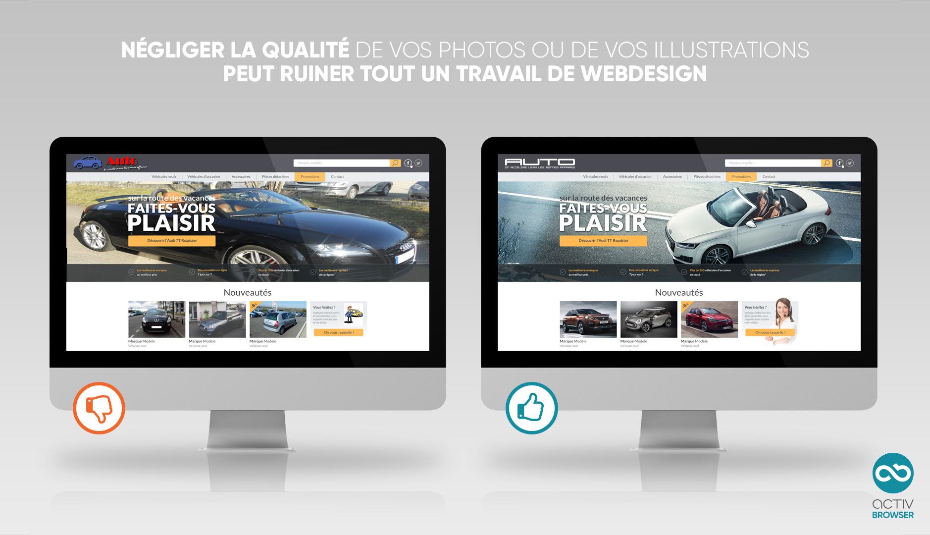 De bonnes ou de mauvaises photos, ça change tout en webdesign !